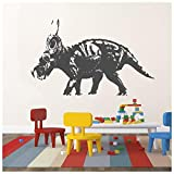banytree Chasmosaurus Prehistoric Dinosaur Wall Stickers Kids Home Decor Art Decal Medium
