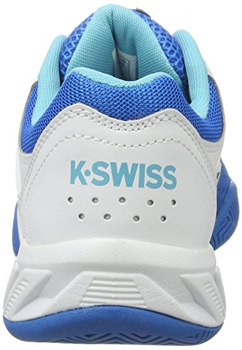 K-SWISS BigShot Light 2.5 Zapatilla para mujer Blanco (White/blueaster/bachelorbutton)