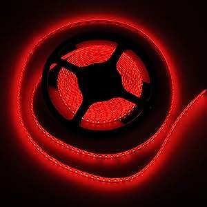 FAVOLCANO High Density Red IP65 Waterproof Led Light Strip, LED Tape ,SMD 3528, 600 LEDs 5 Meter or 16.4 Feet LED Strip 120 Leds/M Multifunctional