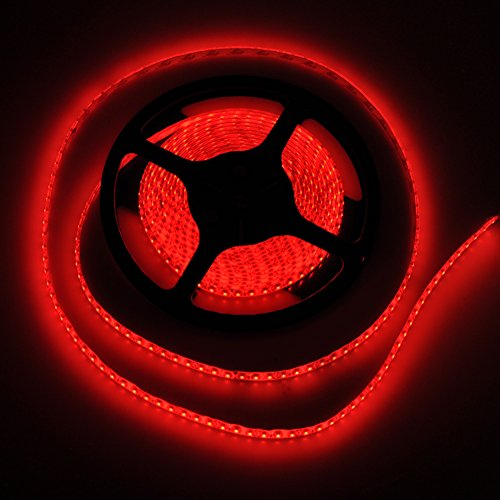 FAVOLCANO High-priced Density Red IP65 Waterproof Led Light Strip, LED Tape ,SMD 3528, 600 LEDs 5 Meter or 16.4 Feet LED Strip 120 Leds/M Multifunctional
