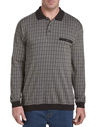 Harbor Bay by DXL Big and Tall Long-Sleeve Large Square Banded Bottom Shirt