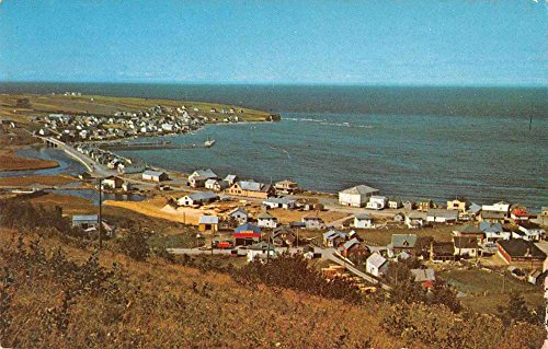 Postcard Birdseye View (Riviere aux Renards Quebec Canada Gaspe Nord Birds Eye View Postcard J77243)