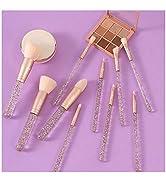 Vivid Tella Makeup Brushes 10 PCs Crystal Transparent Handle Acrylic Cosmetic Brush Set Travel Ma...
