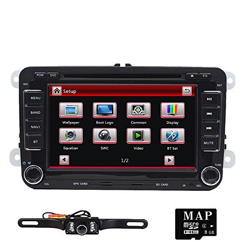 Tmaxlife Double 2 Din 7 Inch Size Car Stereo DVD GPS Nav Radio for VW Passat t5 Golf MK5 Jetta+ Camera