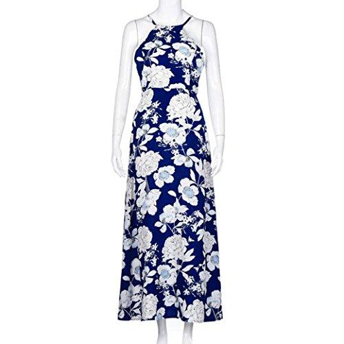 de Playa Largo Cultivo del Mujeres del la Mismo Sundress Boho de Las de Maxi Mujer Vestido ♛JiaMeng Uno Fiesta de Vestido Noche de Vestido Azul FwqXB8q