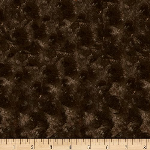 Shannon Fabrics Shannon Minky Rose Cuddle Chocolate Fabric by The Yard,