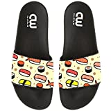 Cartoon Cute Japanese sushi Summer Slide Slippers For Boy Girl Outdoor Beach Sandal Shoes size 4