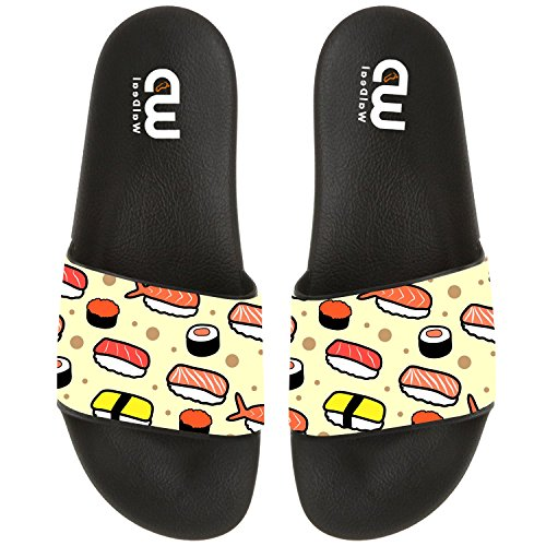 Cartoon Cute Japanese sushi Summer Slide Slipper For Men Women Boy Girl Outdoor Beach Sandal Shoes