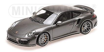 Minichamps 2016 Porsche 911 Turbo S Grey Metallic Limited Edition to 504 Pieces Worldwide 1/