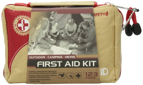 Be Smart Get Prepared 123 Piece First Aid Kit, Outdoor, 0.98 Pound