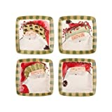 Old Saint Nick Assorted Square Salad Plates by Vietri