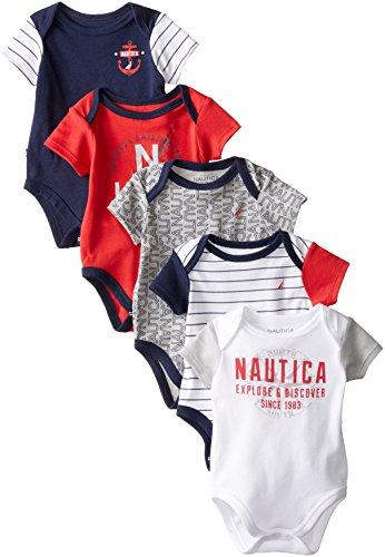 Nautica Baby Boys' Five-Pack Bodysuits