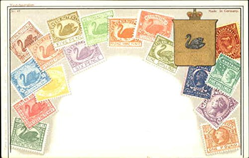 Western Australia Stamp Postcards Australia Original Vintage Postcard