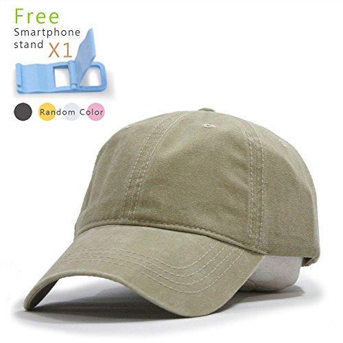 tton Twill Low Profile Adjustable Baseball Cap (Khaki) (Khaki Unstructured Adjustable Cap)