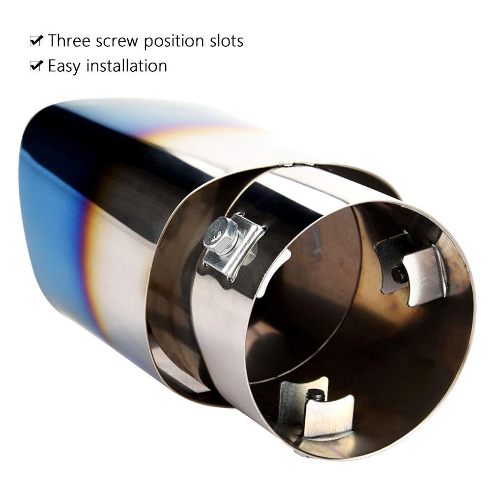 /2017 kimiss 2.8372/mm trapezio terminale coperture tubo di scappamento posteriore per 2010/