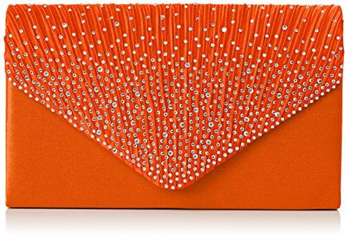 SwankySwansAbby Diamante Envelope Style Bag - Sacchetto donna Arancio (arancione)