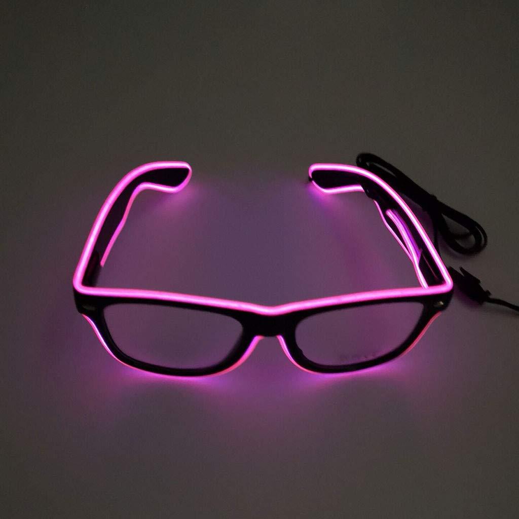 Lollyeca Party Light Up LED Club Glasses Eyeglasses Bright Flashing Brill Battery Box