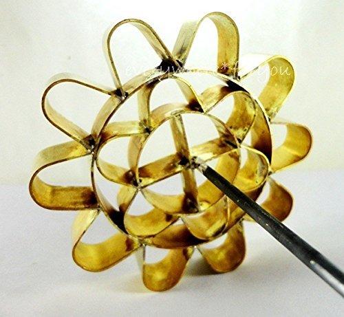 Amazon.com: Cookie Press Discs Brass DOK JOK Original Country Manufacturer Stamp Lotus Flower Mold Springtime Net Weight (Approx.