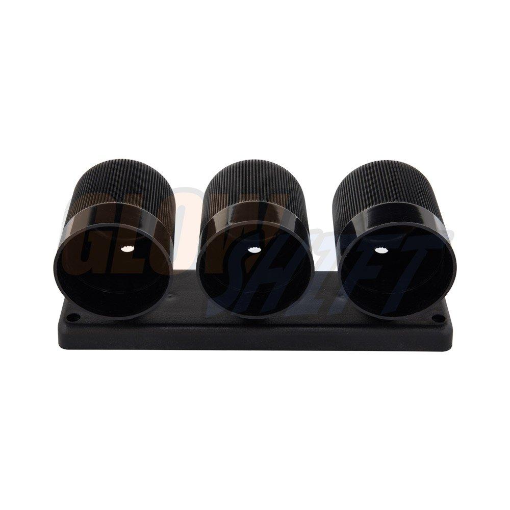 Gauges to Vehicles Dash GlowShift Gauges GS-U03 Mounts 52mm ABS Plastic GlowShift Universal Black Triple Gauge Swivel Dashboard Pod Fits Any Make//Model 3 Swivels 360 Degrees 2-1//16