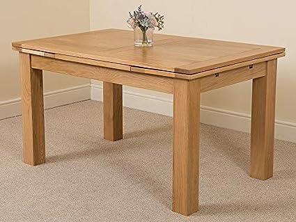 Phenomenal Extendable Oak Dining Table 6 8 Seater Dining Table Inzonedesignstudio Interior Chair Design Inzonedesignstudiocom