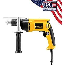 Factory-Reconditioned DEWALT DW511R Heavy-Duty 6.7 Amp 1/2-Inch VSR Single Speed Hammer Drill