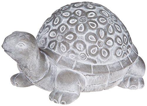 Turtle Garden Statue - Debossed Cement Lawn Ornament - ()