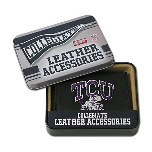 Rico Industries NCAA TCU Horned Frogs Embroidered Leather Trifold ()