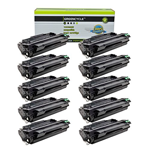 (GREENCYCLE 10 Pack High Yield 51A Q7551A Toner Cartridge Replacement Compatible for HP Laserjet P3005 P3005x P3005d M3027 M3035 MFP Series Printer)