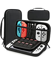 Carry Case Compatible with Nintendo Switch & 2021 OLED Model Switch Protective Hard Portable Travel Carry Case Shell Pouch Compatible with Nintendo Switch Console and Accessories