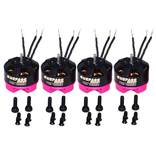 SunniMix 4 Pedazos 1103 10000 KV 2S Brushless Motor Sin Escobilla para 80 90 100 Racing Drone