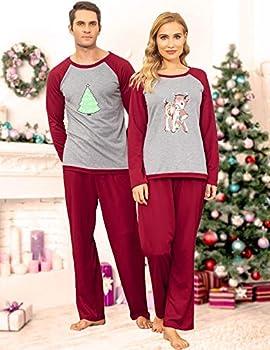 Ekouaer Matching Family Pajamas Set Sleepwear Top /& Pants Sleepwear