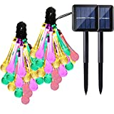 Solar String multi-color lights provide festive and enchanting ambience in outdoor or semi-outdoor locations; suitable to use and decorate in all kinds of weather. 30 LEDs arranged 20cm apart on a 20ft cable; waterproof; the lighting - as powered by ...