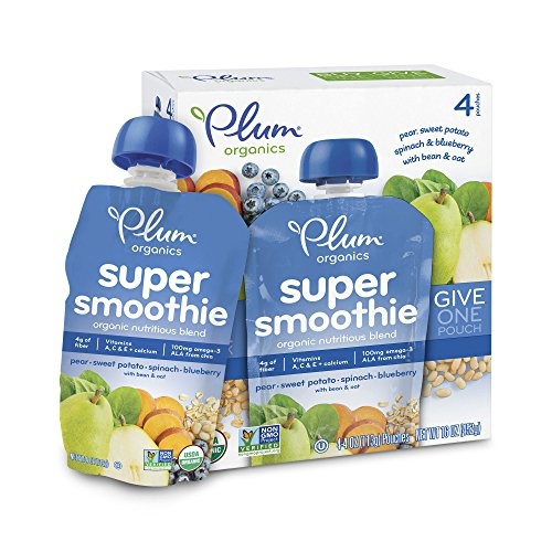 Plum Organics Smoothie Blueberry Spinach product image
