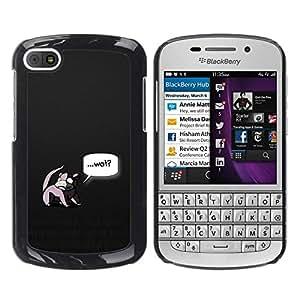 Caucho caso de Shell duro de la cubierta de accesorios de protección BY RAYDREAMMM - BlackBerry Q10 - Wat