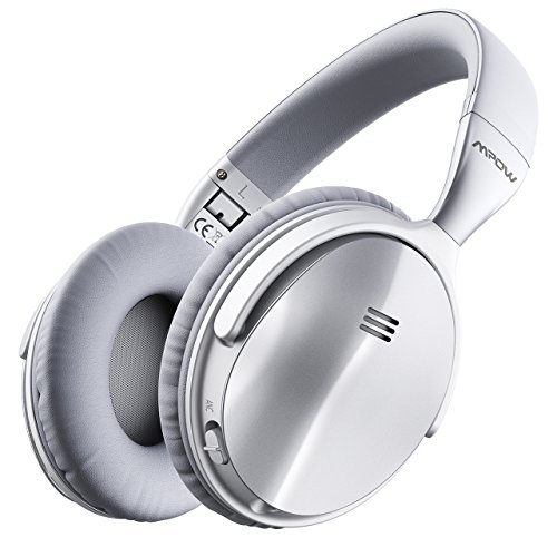 Mpow H5 [2018 Upgrade] Active Noise Cancelling Bluetooth Headphones Microphone Deep Bass Wireless Headphones Over Ear, Comfortable Protein Earpads Travel Work Computer Home by Mpow