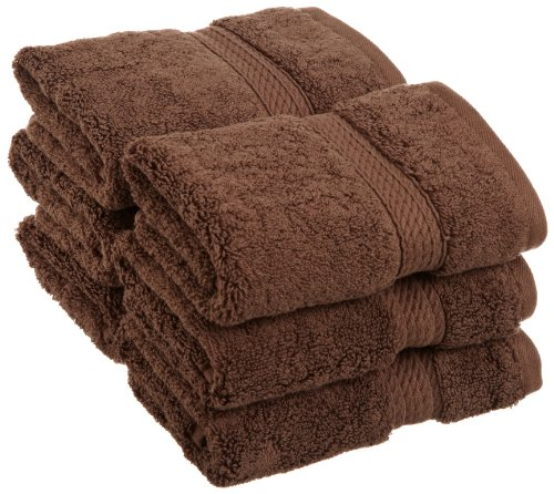 Superior 900 GSM Luxury Bathroom Face Towels, Made of 100% Premium Long-Staple Combed Cotton, Set of 6 Hotel & Spa Quality Washcloths - Chocolate, 13 x 13 each
