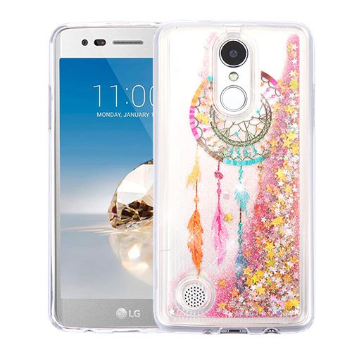 - ShopAegis - [GLITTER QUICKSAND] [Clear] Dream Catcher Gold Stars Floating Liquid Phone Cover Case for LG [V3][ARISTO][K8 2017 ][PHOENIX 3][FORTUNE][K4 2017 ][REBEL 2]