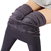 Botrong Women Winter Thick Warm Fleece Lined Thermal Stretchy Leggings Pants