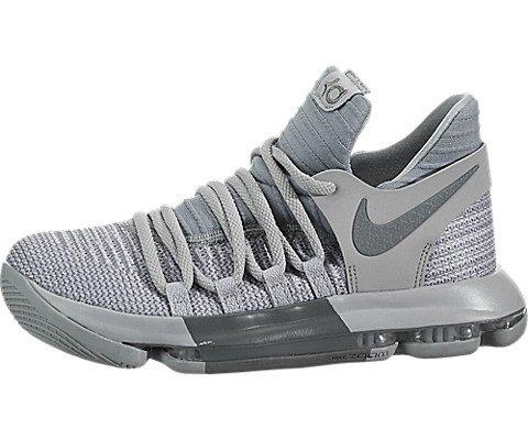 Nike Zoom KD10 Kids (GS) Basketball Shoes (5 M US Big Kid, Wolf Grey/Cool Grey)