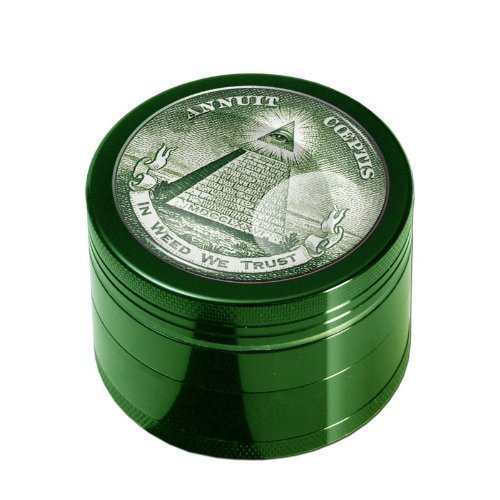 Grinder Black Leaf - In Weed We Trust