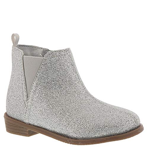 carter's baby-girls' Carmina Western Boot, Silver, 9 M US Toddler ()