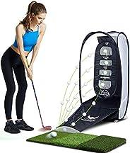 wosofe Golf Hitting Net Practice Target Chipping Netting Indoor Training Swing Golfing Mat at Backyard Golf Co