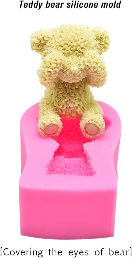 Silicone Style a couleur al/éatoire Moule /à g/âteau ours fait /à la main en silicone Small /à faire soi-m/ême d/écoration 3D pour g/âteau fondant GerTong