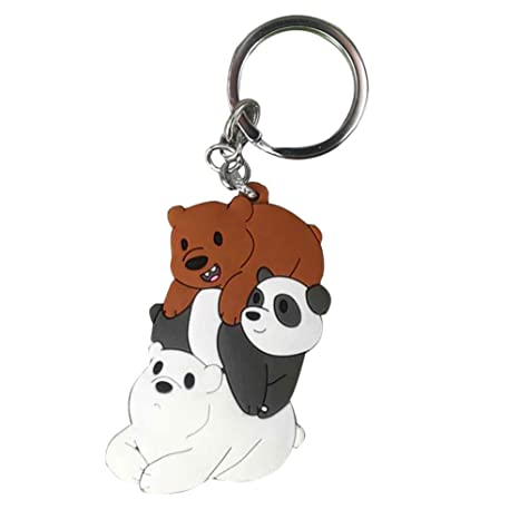 CAR-TOBBY Cute We Bare Bears - Llavero con diseño de Oso ...