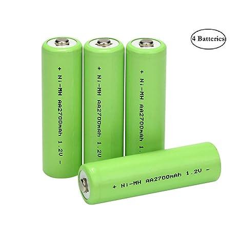 Amazon.com: Pilas recargables AA (paquete de 4), 1,2 V ...