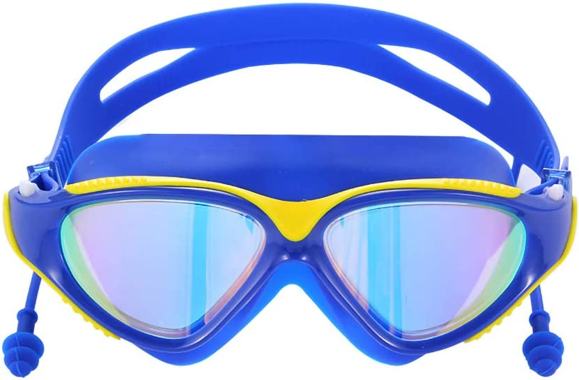 Swimming Goggles Waterproof Anti-Fog UV Protection,No Leaking Wide View Hypoallergenic Silicone Pad Goggles for Adult Women Men Youth Kids Yellow Black Advanced Silicone Swim Goggles