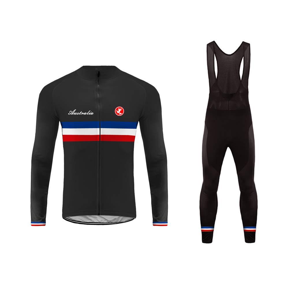 Uglyfrog 2018 Radsport Anzüge Herren Long Trikots with Lange Bib Hosen Gel Pad Winter Triathlon Clothes 02