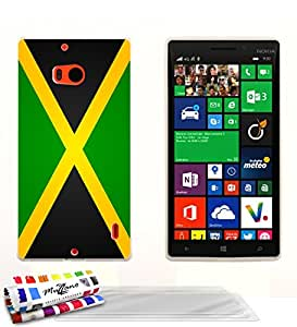 Carcasa flexible Ultrafina Blanca Original de MUZZANO estampada Bandera Jamaica para NOKIA LUMIA 930 + 3 películas de protección UltraClear para la pantalla