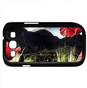 nature (Mountains Series) Watercolor style - Case Cover For Samsung Galaxy S3 i9300 (Black)