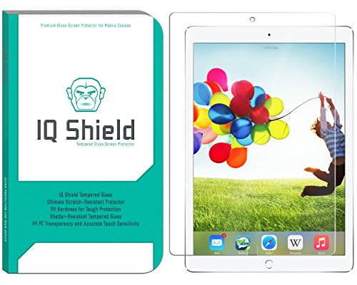 iPad Pro 10.5 Screen Protector (2017), IQ Shield Tempered Ballistic Glass / Case Friendly Screen Protector for iPad Pro 10.5 [9H Bubble-Free][Compatible with Apple Pencil]